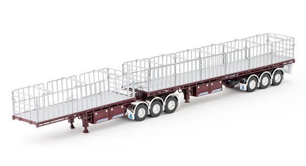 Drake 1 50 escala maxitrans carguero B Conjunto de remolque de doble tapa plana   ZT09135
