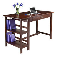 Computer Desk Solid Wood Writing Bookcase Workstation Storage Drawer Furniture