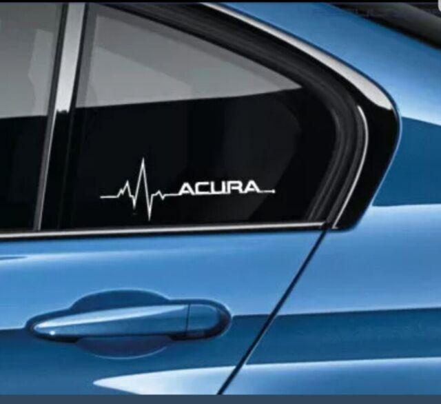 Heartbeats Car Decal Windows Door Acura TSX TLX TL RDX MDX