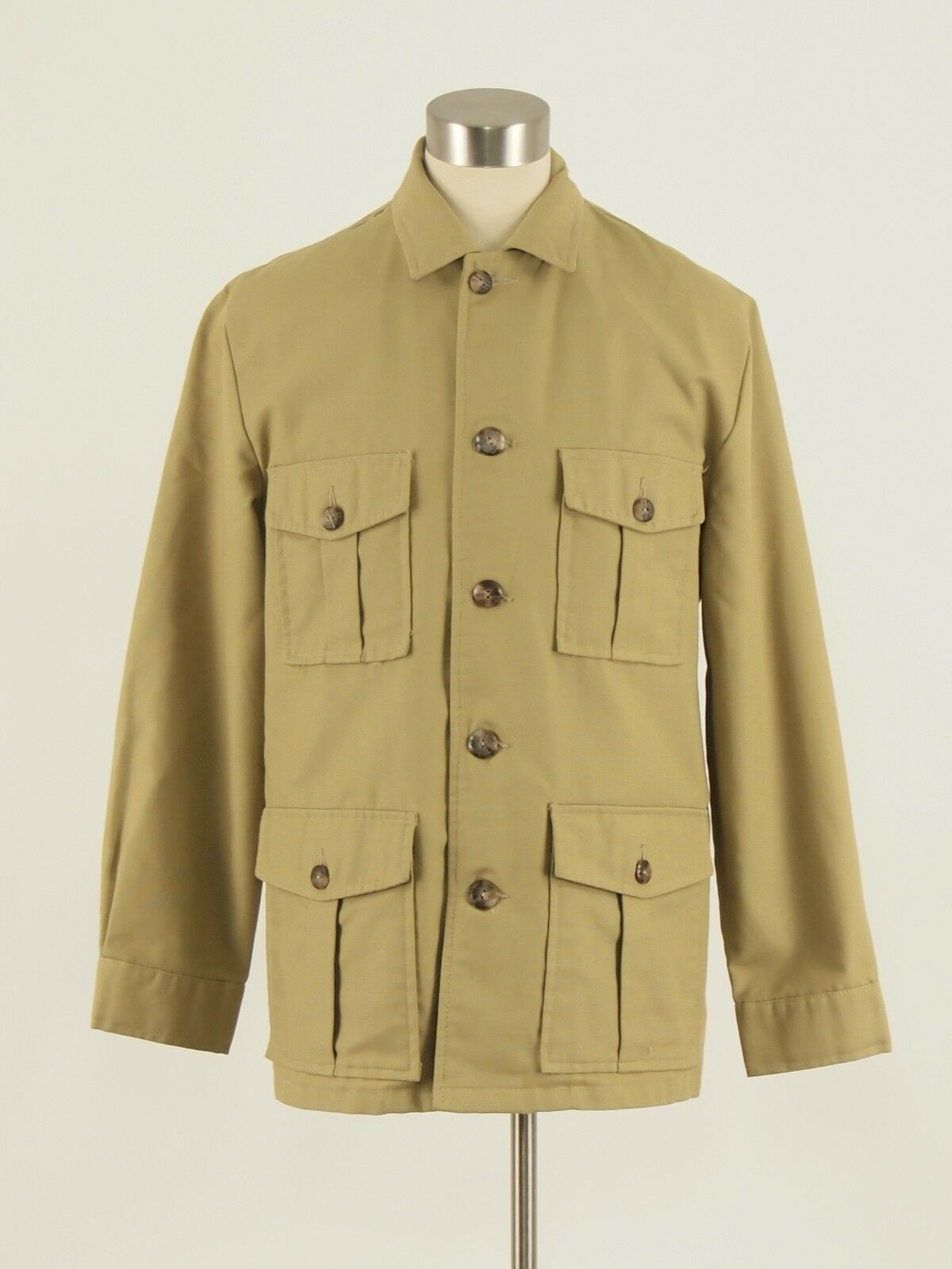 1970s FIELD and STREAM Vintage Tan Outdoor Non-insulated Hunting Jacket 42