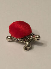 Sterling Silver Turtle Pin Cushion