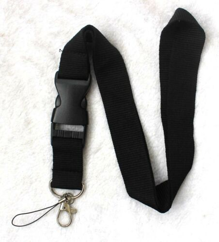 New 30pcs black neck Lanyard Detachable Keychain Camera Strap Badge ID