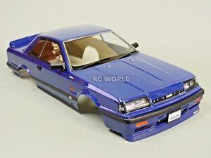 1-10-Coche-Rc-Chasis-Nissan-Skyline-R31-190mm-Acabado-Azul
