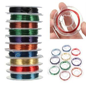 10-Rollen-Gummifaden-Elastisch-Nylonfaden-Gummiband-PerlenfadenSchnur-DIY-0-3mm