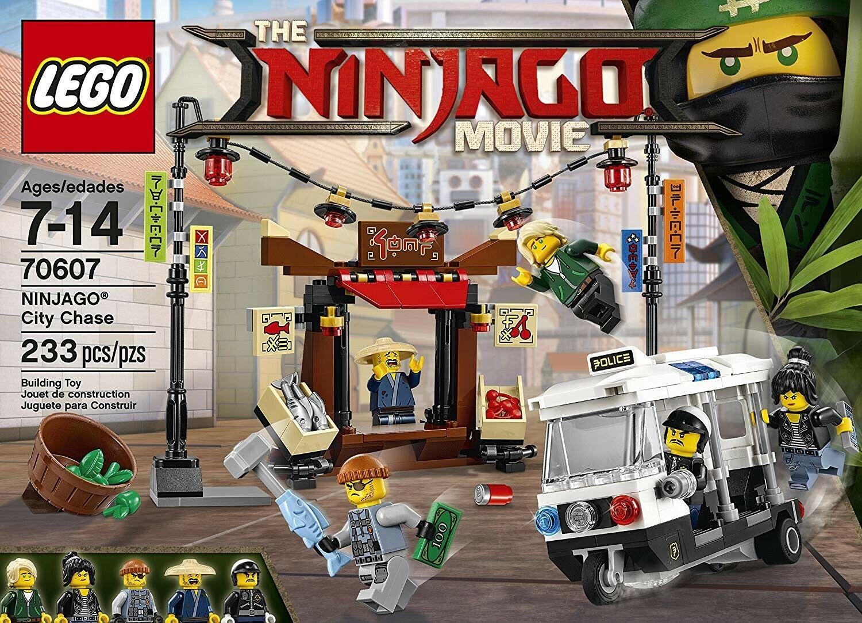 Lego Ninjago Movie Ninjago stad Chase Building leksak 233 PCS 70607