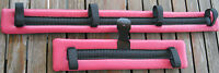 Miniature Mini Horse Donkey Cart Buggy Vinyl Harness Driving Pads Pink Waffle