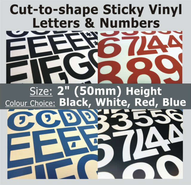 """1020 x Sticky Letters /& Numbers 0.25/"""" Plastic Vinyl Lettering Self-Adhesive"""