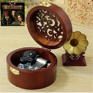 Details about CIRCLE WOODEN CARVING MUSIC BOX : Pirates of the Caribbean  Davy Jones Theme