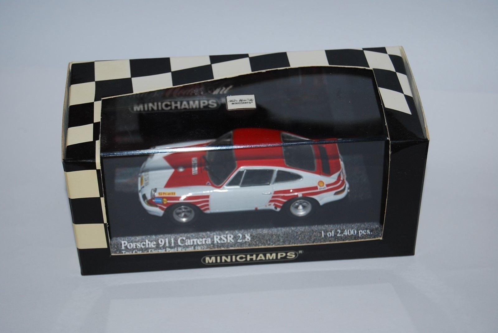 MINICHAMPS PORSCHE 911 RSR 2.8 PAUL RICARD 72 430726990 NEUF BOITE NEW BOX 1 43