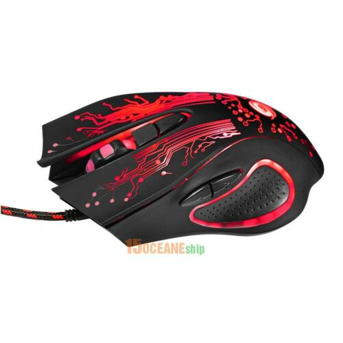 3200 DPI LED Optical 6D USB Wired Gaming Game Mouse Pro Gamer Mice for PC Laptop