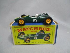 Aj809 Matchbox Lesney Lotus Racing Car Réf 19 Bon Etat