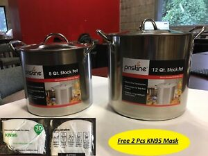Pristine-Stainless-Steel-2-Pc-Stock-Pots-Set-8-QT-12-QT-With-LID