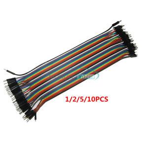 1/2/5/10PCS 40Pin Dupont 20 cm Mâle à Mâle 1P-1P Wire Jumper Câbles pour Arduino
