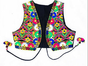 Festival Hippy Boho Women Embroidered cropped Waistcoat Jacket Alternative