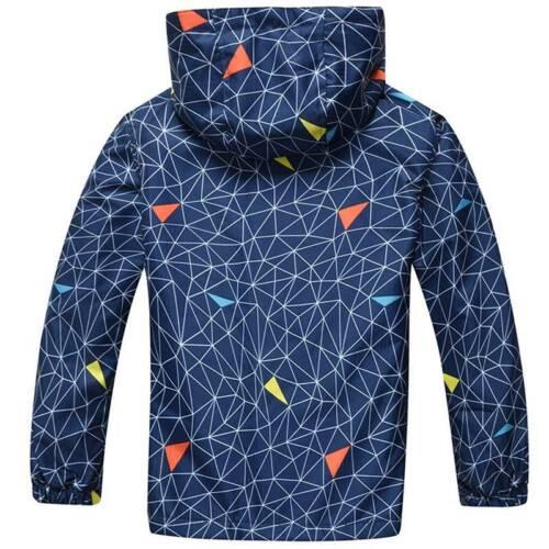 Kids Boy Girl Lined Snow Jackets Rain Coats Casual Children Windproof For School