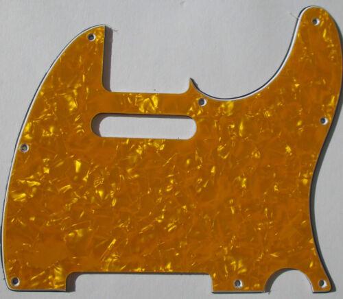 Pickguard Tele Telly TE-310-PY 8 loch pearl yellow 3 lagig