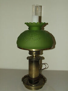 Antique Victorian Colonial Style Table Lamp W Patriotic