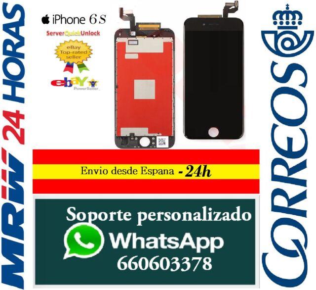 "Pantalla Completa Tactil LCD Para Iphone 6S 4,7"" Negro Negra Retina"