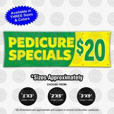 Pedicure Special Twenty Banner Sign Nail Spa Display Beauty Store Business Flag