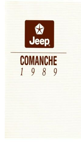 research.unir.net 1989 Jeep Comanche Owners Manual User Guide ...