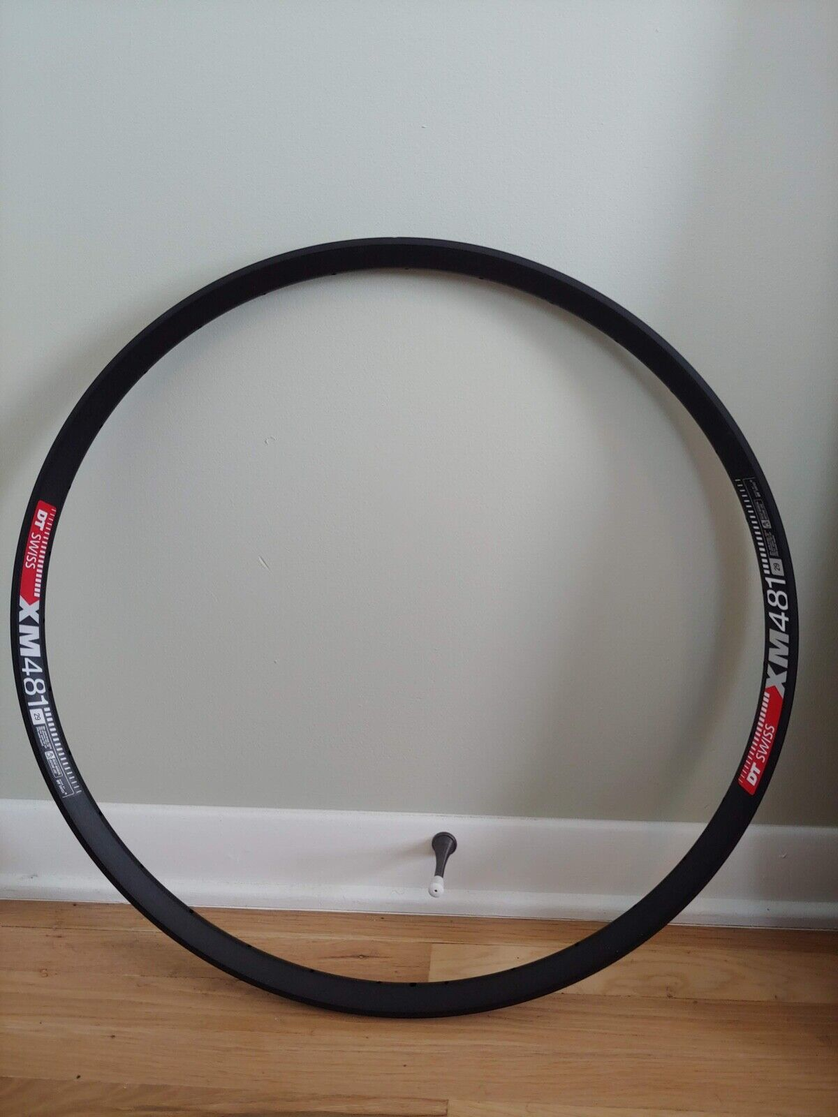 "DT Swiss XM 481 29/"" Tubeless-Ready Disc Rim 32h Black Squorx Nipples Rim Washers"