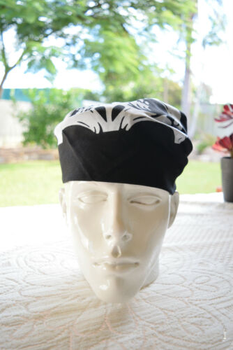 55cm x 55cm Headwear headwrap N03 100/% Cotton /'SKULL BANDANA/' Free Postage