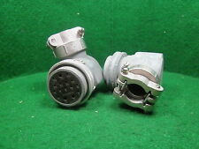 (1) CANNON PLUG FOR Bendix TA-12 Tx & MP-28 Modulator w/Cable Clamp NOS