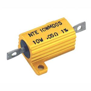 NTE Electronics 5WM016 RESISTOR 5 WATT ALUMINUM HOUSED POWER WIREWOUND 16 OHM