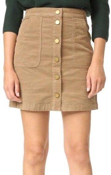 Tory Burch Lucitano Women's Skirt Size 14 A Line Light Brown Tan Corduroy Mini