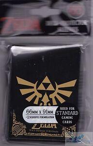 Ultra Pro The Legend of Zelda Black /& Gold Standard Deck Protector Sleeves 65