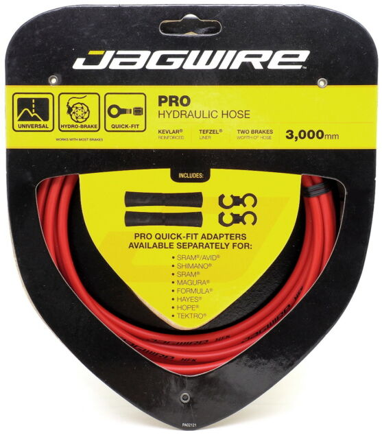 Jagwire Mountain Pro Disc Brake Hydraulic Hose 3000mm Red Includes Hose Only