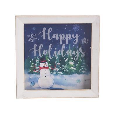 Ganz Light Up Snowman Plaque Happy Holidays Ex20722