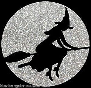 Halloween-Witch-Shirt-Glitter-Witch-Broom-Sexy-Halloween-Ladies-Small-5X