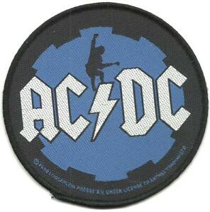 AC-DC-blue-cog-2008-circular-WOVEN-SEW-ON-PATCH-official-merchandise-ANGUS