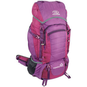 404a6b0d1b Image is loading Highlander-Expedition-60W-Backpack-Womens-Hiking-Pack -Travel-