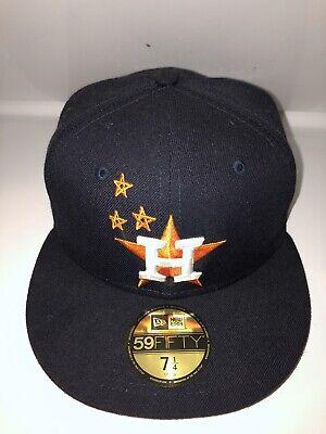 New Era Baseball Cap Hat TRAVIS SCOTT X HOUSTON ASTROS 59FIFTY BLACK Size 7 1//4