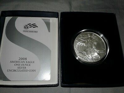 2008-W American Silver Eagle 2008 US Mint Annual Uncirculated Dollar Coin Set
