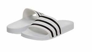sports shoes 9e386 aea8b Image is loading ADIDAS-BB0117-ADILETTE-Mn-s-M-White-Black-White-
