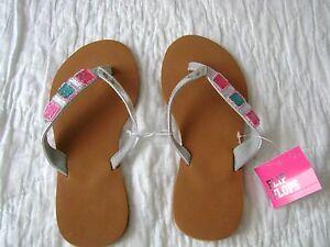 NEW NWT Justice Girls Assorted Beach//Pool Swim Flip Flops Sandals U Pick Size