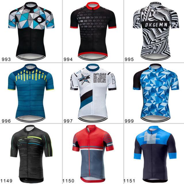 Mens Cycling Jersey Outdoor Sports Riding Bike Shirts Fit Man Woman Short Sleeve