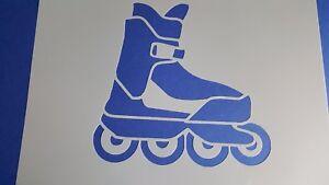 Schablone 461 Rollschuh Wandtattoos Stencil Leinwand Textilgestaltung Airbrush