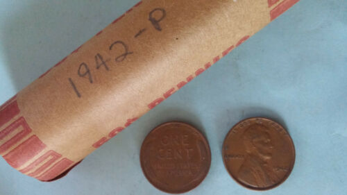 LINCOLN WHEAT ROLL 1942-P LOT OF 50 Coins 1942 CENTS
