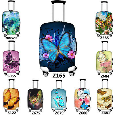Elastic Travel Luggage Cover Colorful Butterflies Suitcase Protector for 18-20 Inch Luggage