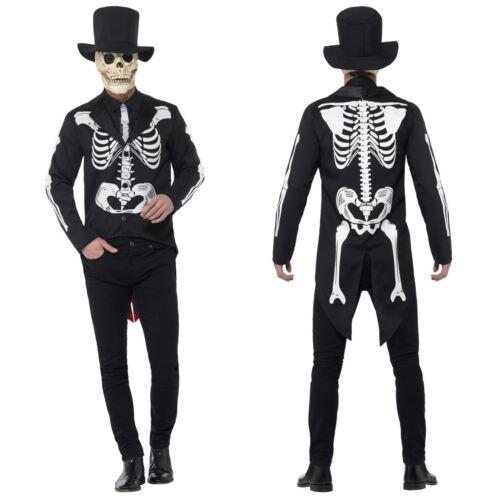 Para hombre traje de señor Huesos Esqueleto Día de los muertos señor mexicano Fancy Dress Costume