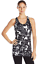 Karen Kane Active Floral Stamp Stretch Slimming Racerback Built-in Bra Tank $42