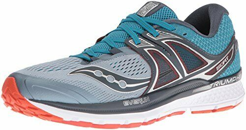 Saucony Men's Triumph ISO 3 Running shoes, Grey bluee Red, 9 D US