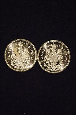 1973 CANADA 50¢ BRILLIANT UNCIRCULATED HALF DOLLAR COIN