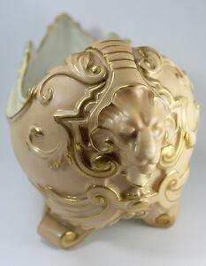 Antique-Royal-Worcester-Vase-with-Lions-head