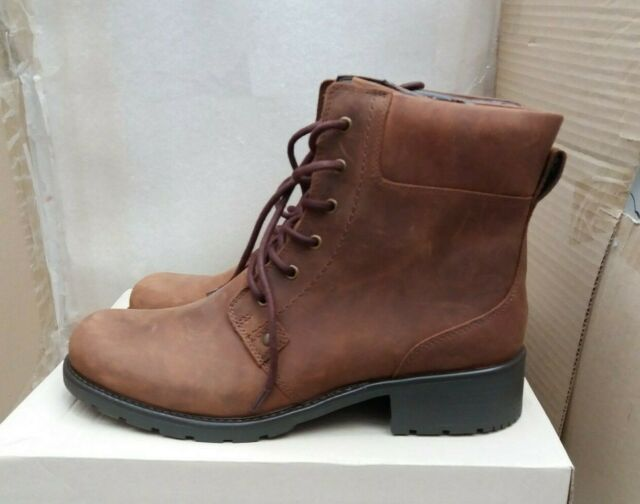b7e627ed71cda Clarks Ladies Lace up Ankle BOOTS - Orinoco Spice Brown 9 UK D for ...