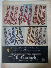 1947 McCurrach Mens Foulard Ties Neckties New Color Harmonies Fashion Ad
